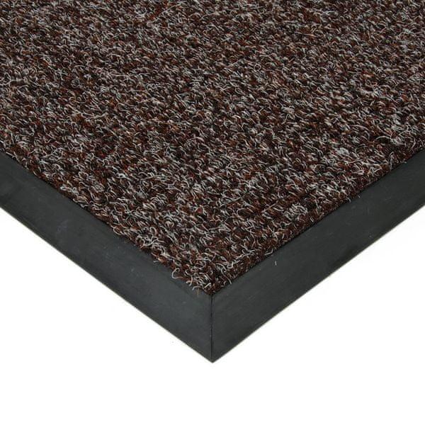 FLOMAT Hnědá textilní zátěžová čistící rohož Catrine - 500 x 300 x 1,35 cm