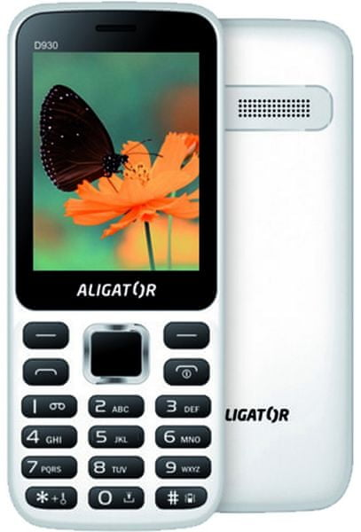 Aligator D930, Dual SIM, bílý