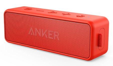Anker zvočnik SoundCore 2, rdeč