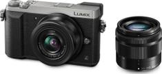 Panasonic aparat Lumix DMC-GX80 +12-32 + 35-100 mm Silver (DMC-GX80WEG-S)