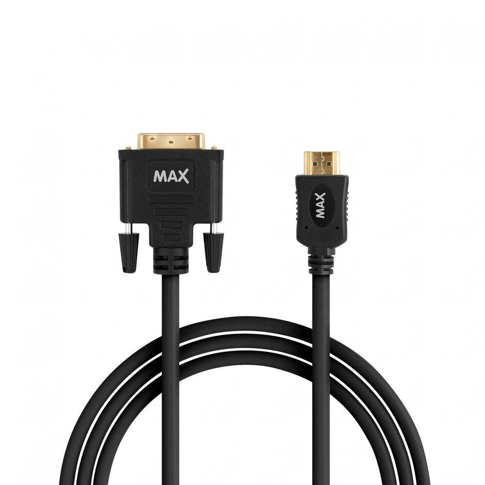 MAX propojovací kabel DVI-D a HDMI, černý