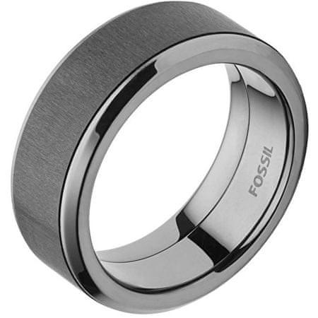 Pánsky oceľový prsteň s karbónom JF02368793 (Obvod 60 mm)