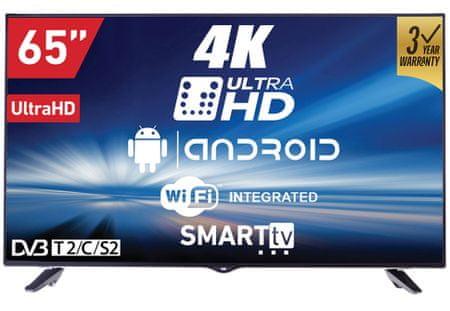 VOX electronics LED TV sprejemnik 65DSW400U 4K (Smart)