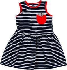 MMDadak Dievčenské šaty Mewa s vreckom