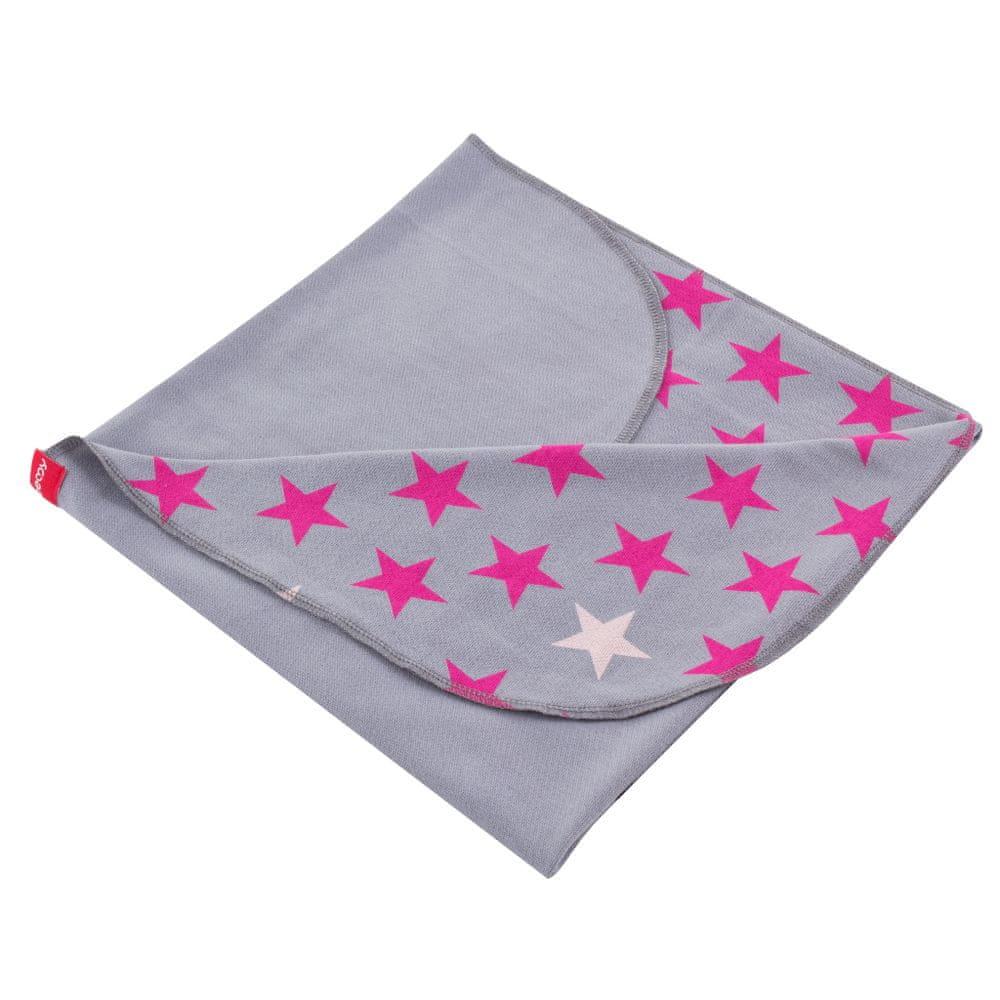 BeeMy Letní deka, STARS GREY PINK
