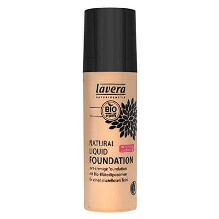 Lavera Prírodné a organický fluidný make-up ( Natura l Liquid Foundation) 30 ml (Odtieň 06 mandle - karamel