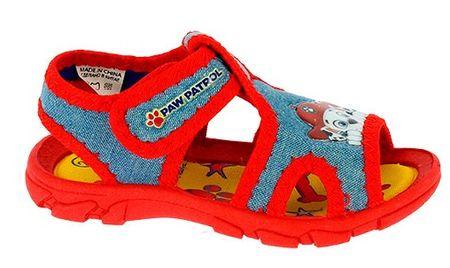 Disney by Arnetta chlapčenské sandále Paw Patrol 21 modrá