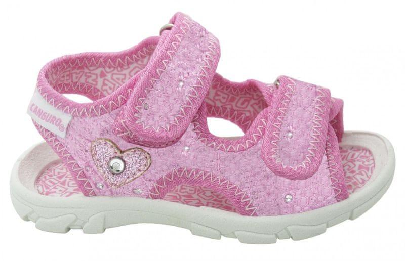 Canguro dívčí sandály 23 světle růžová
