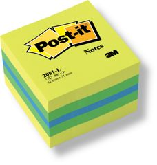 Blok samolepicí Post-it 51 x 51 mm žlutý neon