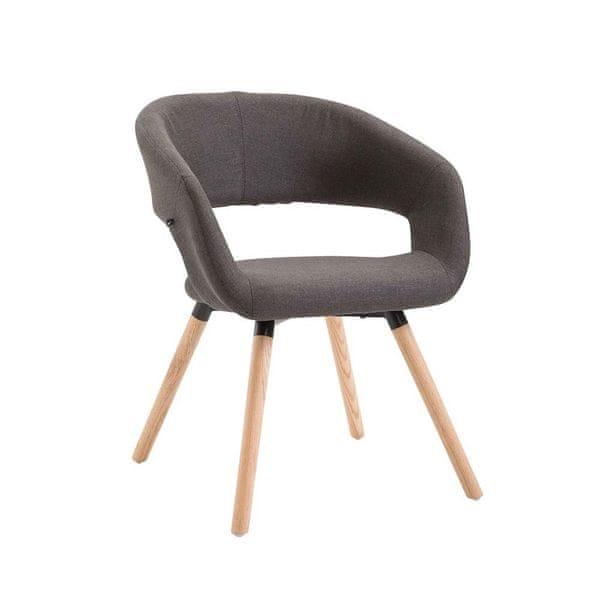 BHM Germany Jídelní židle Gizela textil, přírodní, tmavě šedá