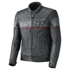 Held pánska kožená moto bunda  STONE antracit/červená