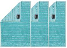 Cawö Frottier ručník aqua, pruhy, 3 ks