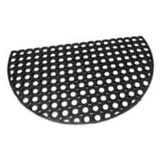 FLOMAT Gumová vstupní čistící půlkruhová rohož Honeycomb - 75 x 45 x 1,6 cm