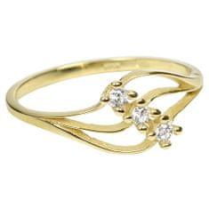 Brilio Dámský prsten s krystaly 229 001 00546 - 1,25 g zlato žluté 585/1000