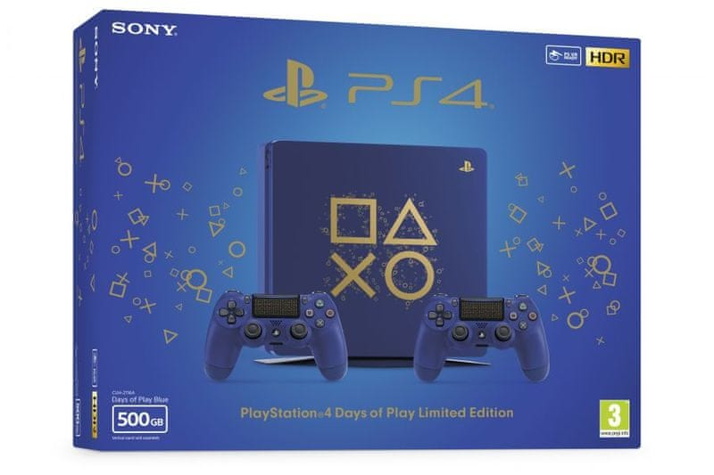 Sony PS4 500GB + DS4 edice Days of Play