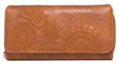 Desigual ženska denarnica Maria Dark Amber, rjava