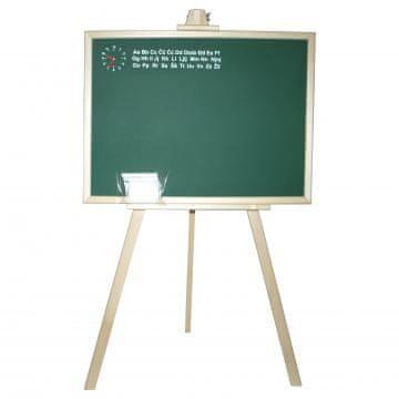 Šolska tabla s stojalom, 53x40x88cm