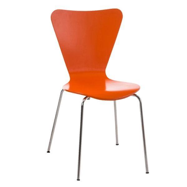BHM Germany Jídelní židle překližková Cyrus, oranžová