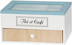 TimeLife Krabička na čaj so šuplíkom 6 priehradiek