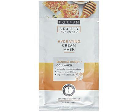 Freeman Hydratační krémová maska Manukový med a kolagen Beauty Infusion (Hydrating Cream Mask) (Objem 15 ml)