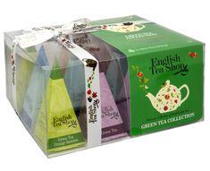English Tea Shop Dárková kolekce 12 pyramidek Zelený čaj 4 příchutě