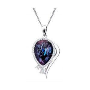 Preciosa Elegantný náhrdelník Ines Matrix 6110 26 striebro 925/1000