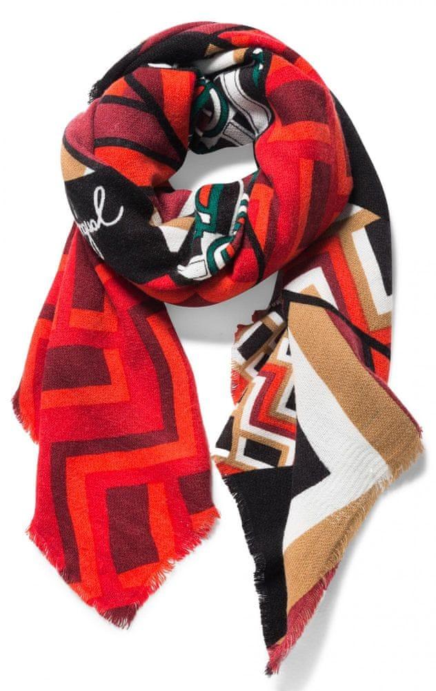 Desigual dámský červený šátek Patch