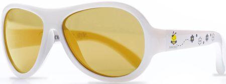 Shadez Detské slnečné okuliare Designers s včeličkou - biele