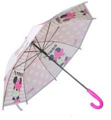 E plus M Dívčí deštník Minnie - bílý