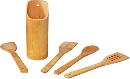 TimeLife Doplňky na vaření sada 5ks se stojánkem, bambus