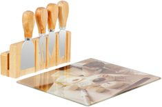 TimeLife servisni set nožev za sir iz bambusa