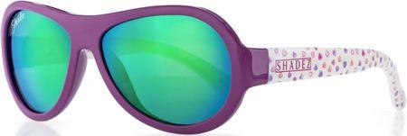 Shadez Dievčenské slnečné okuliare Designers so srdiečkami - fialové