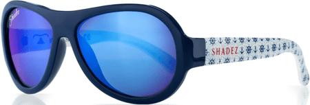 Shadez Chlapčenské slnečné okuliare Designers s kormidlami - modré