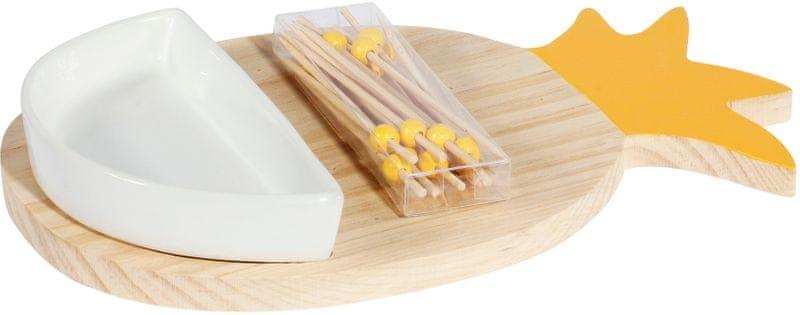 TimeLife Sada na servírování Amuse-Bouche, bambus žlutá