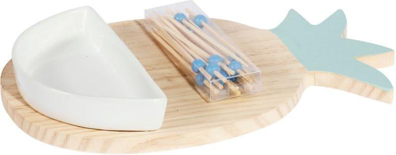 TimeLife Sada na servírování Amuse-Bouche, bambus modrá