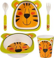 TimeLife set posode za otroški zajtrk z motivom tigra, bambus