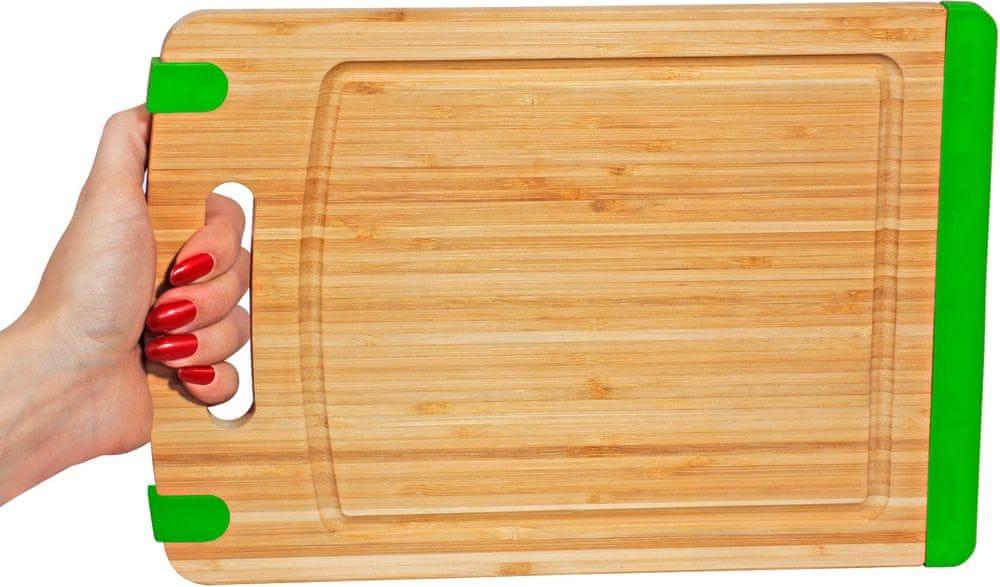 TimeLife Prkénko s protiskluzovou podložkou, zelená