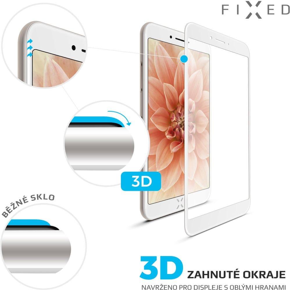 FIXED 3D Full-Cover ochranné tvrzené sklo pro Apple iPhone 7/8/SE 2020, bílé FIXG3D-100-033WH