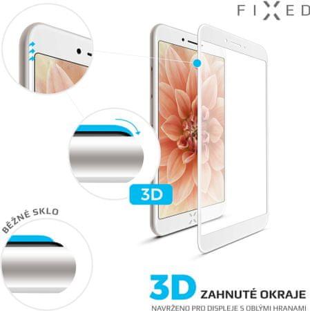 Fixed 3D Full-Cover ochranné tvrzené sklo pro Apple iPhone 7/8, bílé FIXG3D-100-033WH