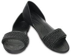 Crocs ženske balerinke Lina Embellish Dorsay Flat, črni