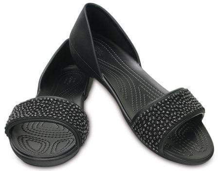 Crocs Lina Embellish Dorsay Flat Black/Black W6 (36,5)