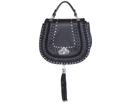 Fornarina Dámska kabelka Jasmin e - Black Leather Bag AI18JA226C000