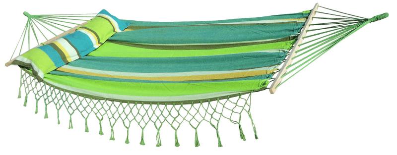 Dimenza Prostorná houpací síť MAXI pro dva - zelená s pruhy