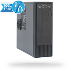 Chieftec ohišje FI-03B mini ITX 250W USB 3.0, črno