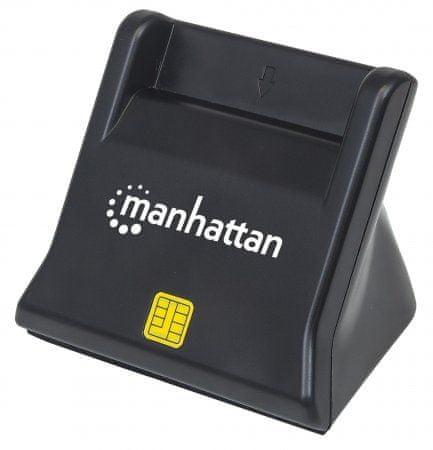 Manhattan USB čitalec kartic SMART/SIM, pokončen