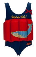 Beverly Kids Dívčí nadnášející plavky Whale - modro-červené