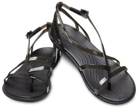 Crocs ženski sandali Isabella Gladiator Sandal W Black/Black W6, 36,5, črni