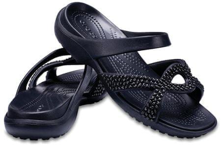 Crocs ženski natikači Meleen Twist Diamante Sandal Black/Black W7, 37,5, črni