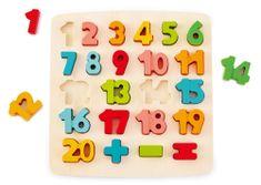 Hape puzzle, števila in računski znaki