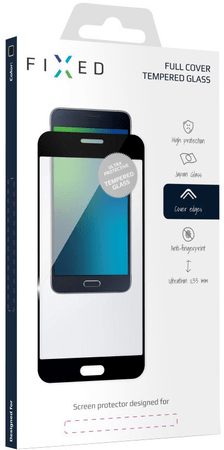 Fixed Full-cover ochranné tvrdené sklo pre Samsung Galaxy S8, čierne FIXGF-195-033BK